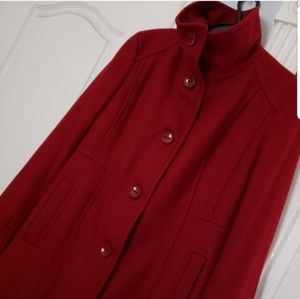 NWOT Kenneth Cole Reaction Red Coat